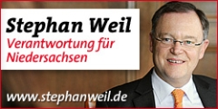 Banner: Internetauftritt von Stephan Weil