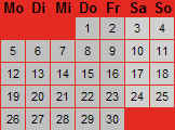Kalender des OV