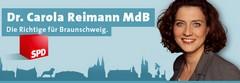 Banner: Internetauftritt von Dr. Carola Reimann